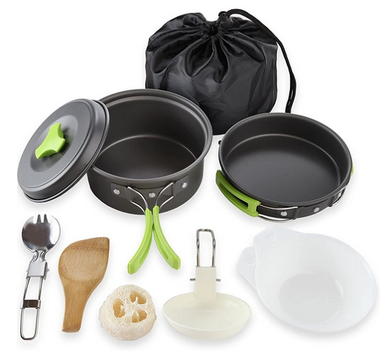 MalloMe Camping Cookware Mess Kit Gear