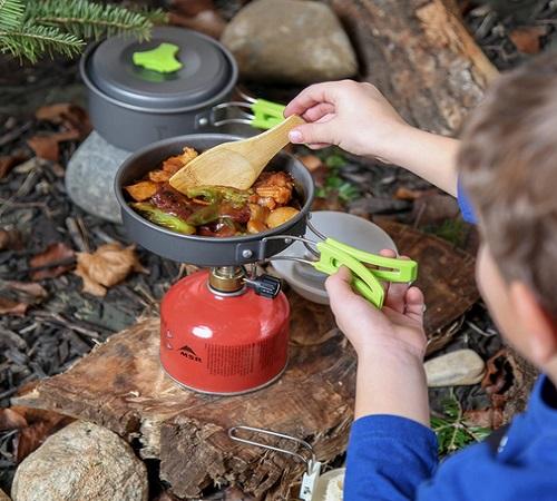 MalloMe Camping Cookware Mess Kit Gear