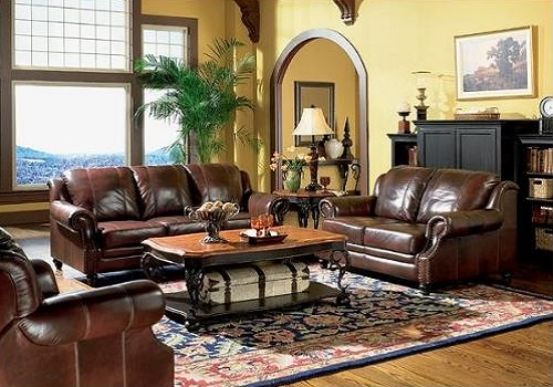 3 Piece Princeton Tri Tone Burgundy Leather Sofa Loveseat And Recliner Chair Set
