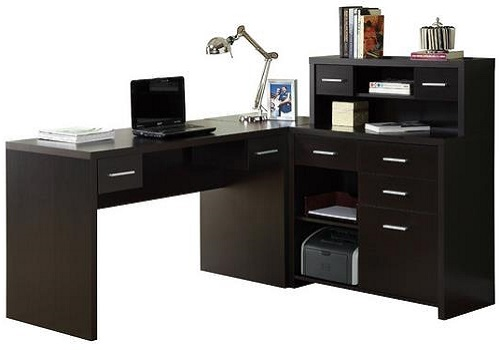 Monarch Specialities Hollow Core L-Shaped Home Office Desk