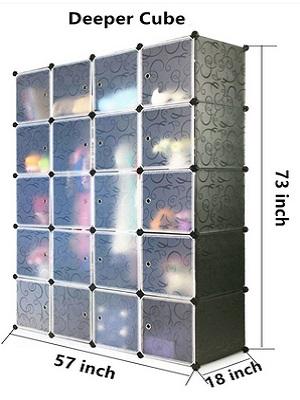 Unicoo – Multi Use Cube Organizer, Bookcase, Storage Cabinet And Wardrobe Closet