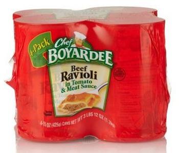 Chef Boyardee Ravioli Beef