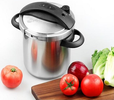 Culina One-Touch Pressure Cooker With Steamer Basket