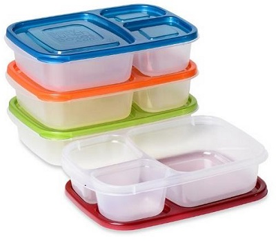 Easy Lunchboxes 3-Compartment Bento Lunch Box