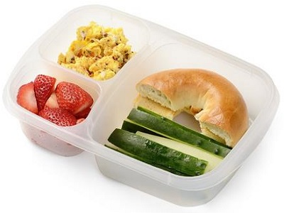 6 Pack Premium Eco Friendly 3-Compartment Bento Lunch Box