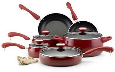 Paula Deen Signature Nonstick 15 Piece Porcelain Cookware Set