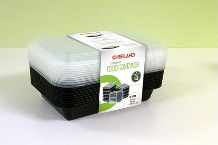 Chefland 3-Compartment Microwave Safe Food Container 10-Pack