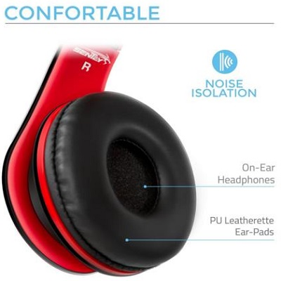 Sentey Headphone With Microphone For Travel, Work And Running Sport