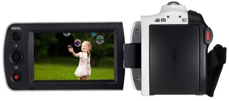 Samsung F90 White Camcorder With 2.7 LCD Screen And HD Video Recording