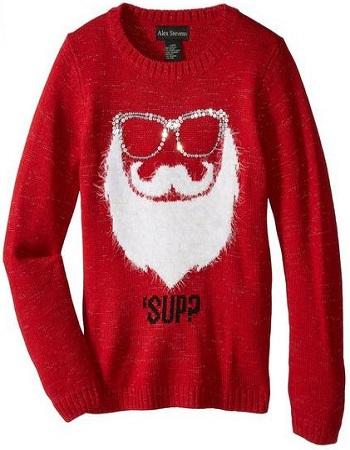 Alex Stevens Girls Sup Santa Sweater