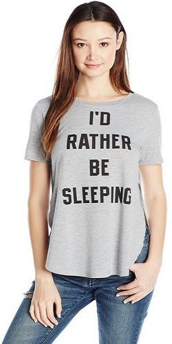 Cold Crush Juniors Rather Be Sleeping Graphic Tee