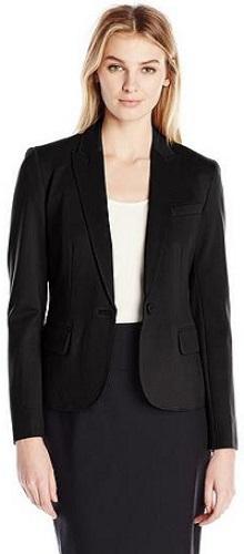 Anne Klein Women's Ponte One-Button Jacket