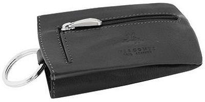 Visconti Leather Retractable Key Pouch Sleeve