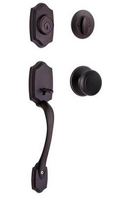 Kwikset Belleview Smart Key Single Cylinder Handset With Cove Knob
