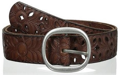 Fossil Women's Floral Perforated Belt
