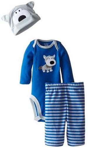 Gerber Baby-Boys Newborn 3-Piece Bodysuit