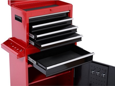 Tenive Pro Deluxe 5 Drawers Top Removable Rolling Mobile Tool Cabinet