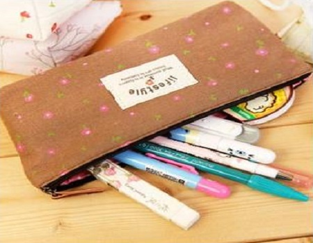 Deobox Canvas Pen Bag Pencil Case