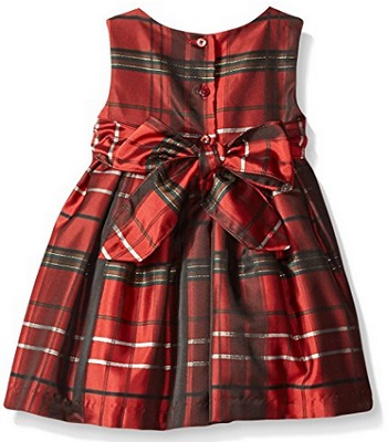 Pippa And Julie Baby Girls Red Plaid Jacket Dress