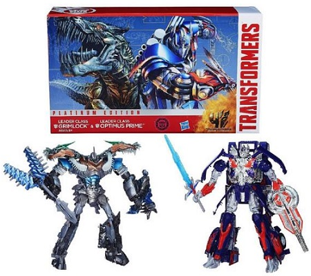 Transformers Age of Extinction Optimus Prime And Grimlock Figures