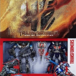 Transformers Age of Extinction Optimus Prime And Grimlock Figures