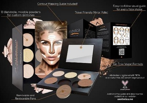 Aesthetica Contour And Highlighting Powder Makeup Kit