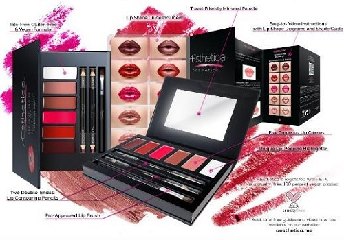 The Aesthetica Cosmetics Lip Contour Kit is the only all-inclusive lip palette in the industry.