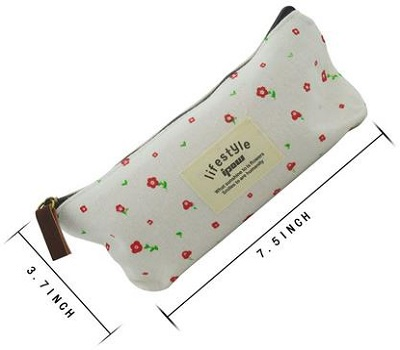 Pastorable Canvas Pen Pencil Stationery Pouch Bag Case
