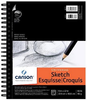 Canson 9 Inch By 12 Inch Universal Sketch Book