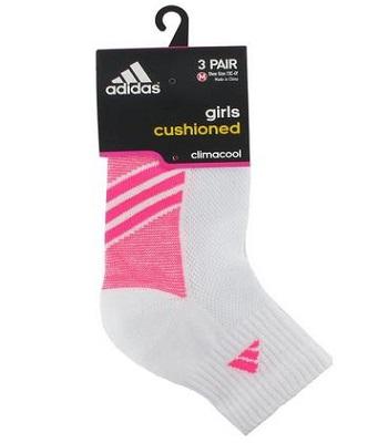 Adidas Girls Cushion Quarter Socks