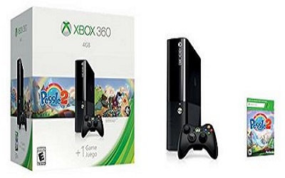 Xbox 360 4GB System Console With Peggie 2 Bundle