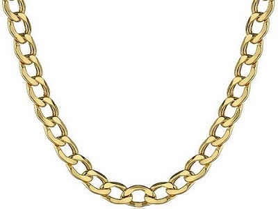 Men's 10K Yellow Gold Link Chain Necklace