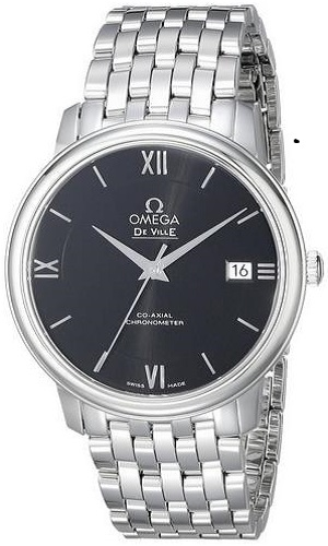 Omega Men's Analog Display Swiss Automatic Silver Watch