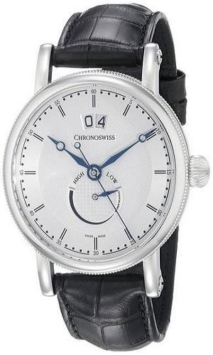 Chronoswiss Mens Sirus Analog Display Automatic Self Wind Black Watch