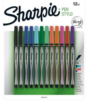 Sharpie Pen Fine Point Assorted Colors 12-Count