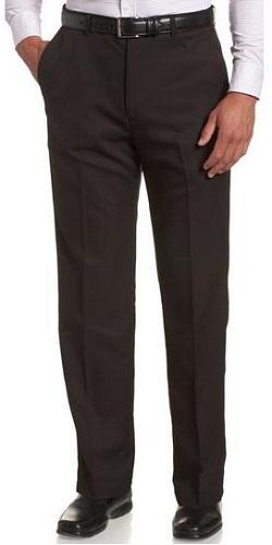 Haggar Men's Expandable Waist Plain Front Pant