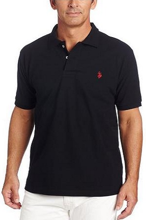 U.S. Polo Men's Solid Polo With Small Pony