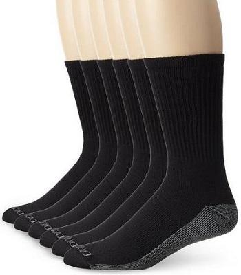 Dickies Mens 6 Pack Dri Tech Comfort Crew Socks