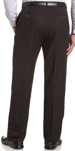 Haggar Men's Expandable Waist Plain Front Pant