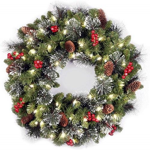 National Tree 24-Inch Crestwood Spruce Wreath