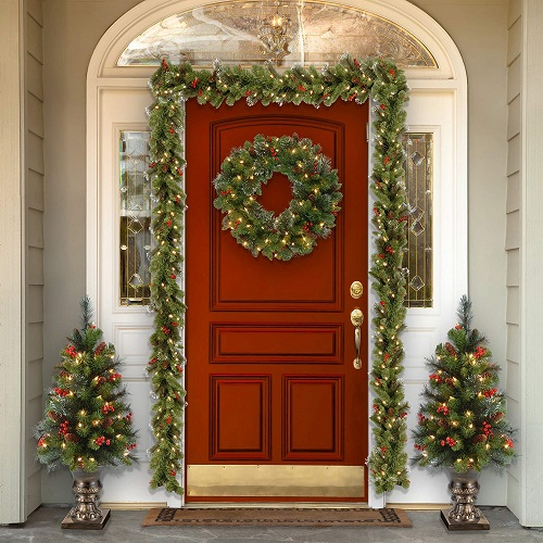 National Tree 24-Inch Crestwood Spruce Wreath