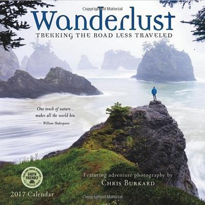 Wanderlust 2017 Wall Calendar – Trekking The Road Less Traveled