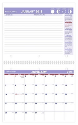 At-A-Glance Monthly Desk Pad Calendar 2018