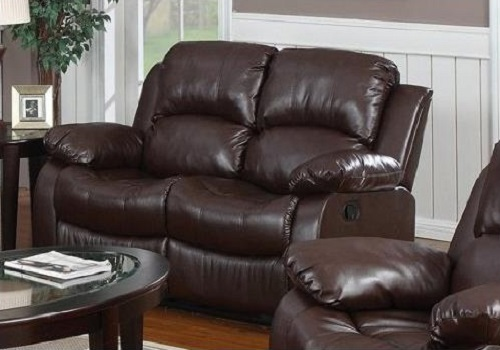 Huntington 2 Pc Bonded Leather Sofa And Loveseat Set With 4 Recliners