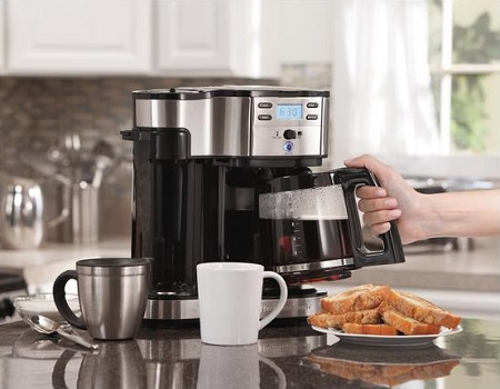 Hamilton Beach Single Serve Coffee Brewer And Full Pot Maker