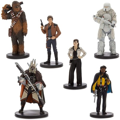 Disney Solo - A Star Wars Story Han Solo Figure Play Set 6 Piece