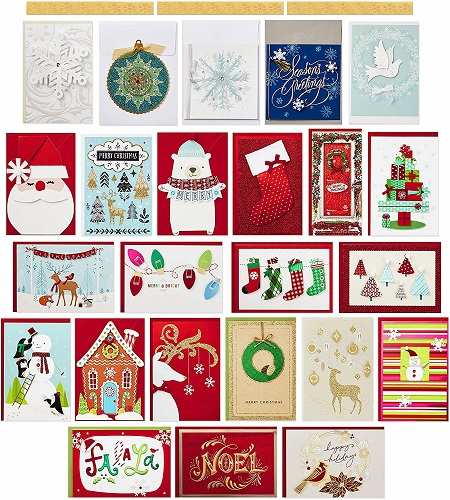 Hallmark Boxed Handmade Christmas Cards Assortment Set Of 24