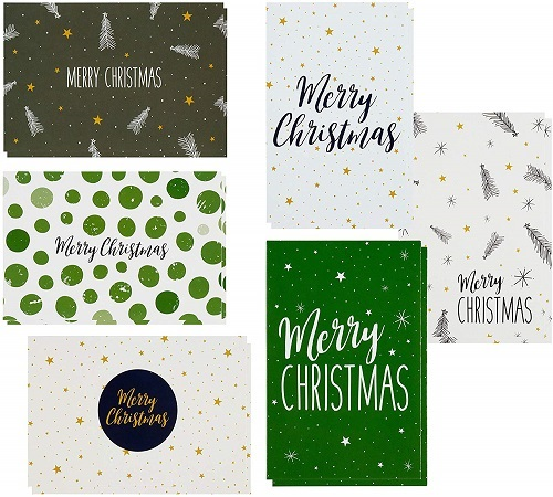 48 Pack of Christmas Winter Holiday Family Greeting Cards