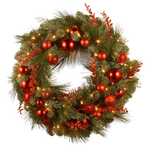 National Tree Company Pre-lit Artificial Christmas Wreath Decorative Collection