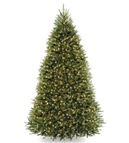 National Tree Company Pre-lit Artificial Christmas Tree With Pre-Strung Multi-Color LED Lights And Stand
